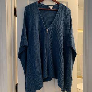 Soft Joie blue zipped poncho